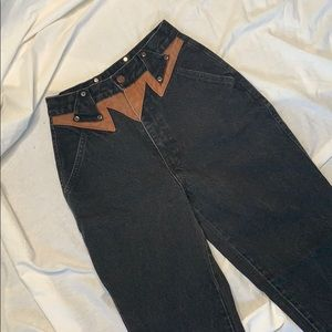Roper vintage Contrast Western Styled Mom Jeans